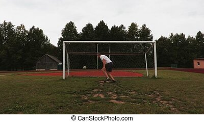 Stressful soccer goalkeeper