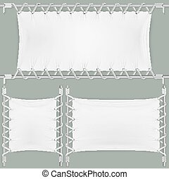 Stretched By Ropes Textile Banners Set.