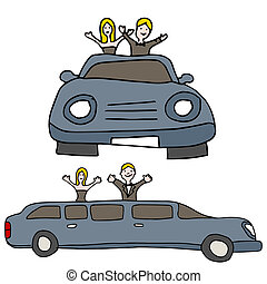 Stretched Limo - An image of a stretched limo with party...