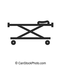 Stretcher - stretcher, bed, rescue icon vector image. Can...
