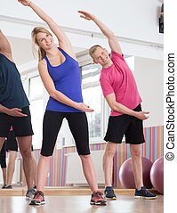 Stretching on fitness classes