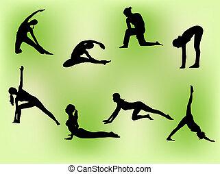 stretching, vrouwen