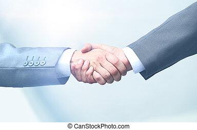 stretta mano, affari