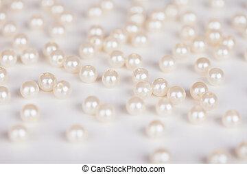 streuung, von, fälschung, perlen