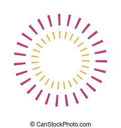 stribet, vektor, konstruktion, cirkel