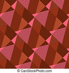 Strict geometry textured triangle seamless pattern - Strict...