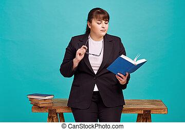 Strict overweight teacher, body positive