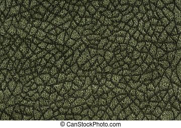 Strict textile background in dark green tone.