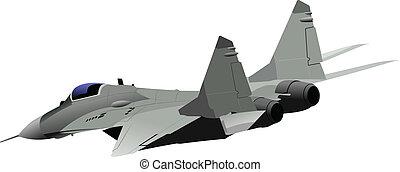 strid, vektor, flygplan