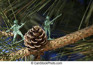 stridande, för, den, träd
