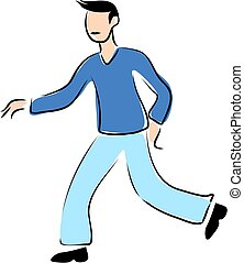 Striding - fella walking