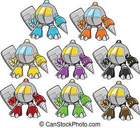 strijder, cyborg, vector, robot