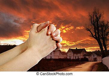 strijder, gebed