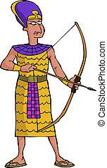 strijder, oud, egyptisch