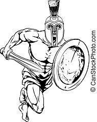 strijder, trojaan, karakter