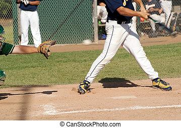 strike! - a batter misses