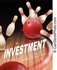 strike bowling 3D illustration