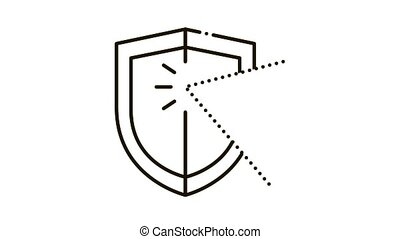 strike for defense Icon Animation. black strike for defense animated icon on white background