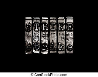 Strike protest concept