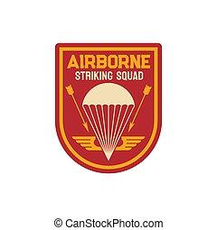 Striking division squad airborne military chevron