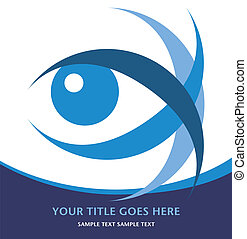 Striking eye design. - Striking eye design with copy space...