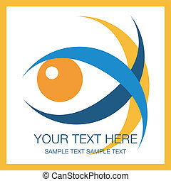 Striking eye design.  - Striking eye design vector.