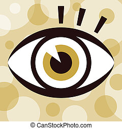 Striking eye design. - Eye with eyelashes design.