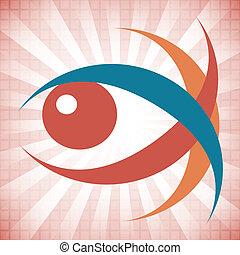 Striking eye design. - Striking eye design with a patterned...