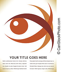 Striking eye design. - Striking eye design with copy space.