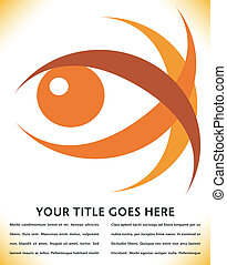 Striking eye design. - Striking eye design with copy space.