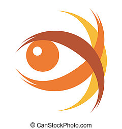 Striking eye illustration. - Striking eye illustration...