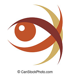 Striking eye illustration. - Striking eye vector...