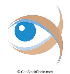 Striking eye illustration.