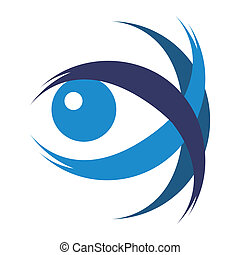 Striking eye illustration.