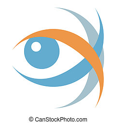 Striking eye illustration. - Striking vector eye ...