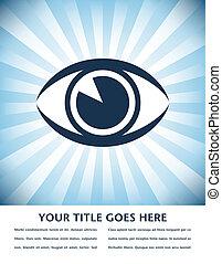 Striking eye sunburst design. - Striking eye sunburst design...