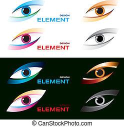 Striking eye - Vector illustration of logo striking eye.