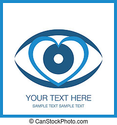 Striking heart eye design.