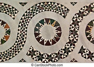 Striking Inlaid Geometric Design