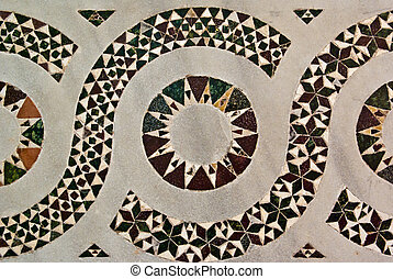 Striking Inlaid Geometric Design - Striking stylised...