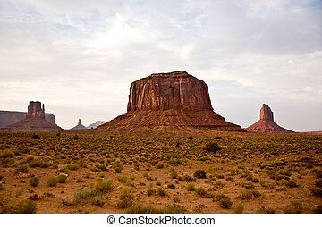 Striking Landscape in Monument Valley, Navajo Nation, Arizona