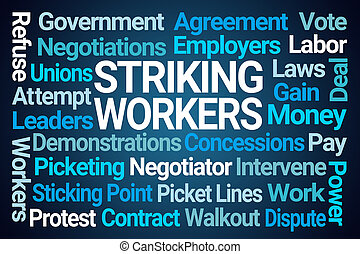 Striking Workers Word Cloud
