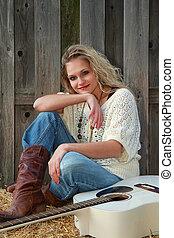 Strikingly Beautiful Cowgirl