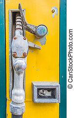 strilmunstycke, pump, station, gas, service