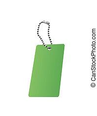 string., étiquette, attaché, vide