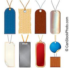 string., art, agrafe, étiquettes, vente, vecteur, vide