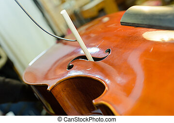 string instrument being repaired