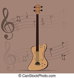 Musical instrument - String instrument, Isolated bass,...