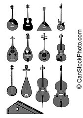 String instruments - Set of musical string instruments