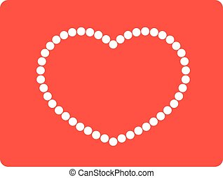 String of beads in heart shape